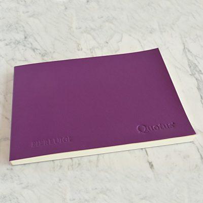 Quotus cartoleria di lusso - Quaderno in pelle personalizzato
