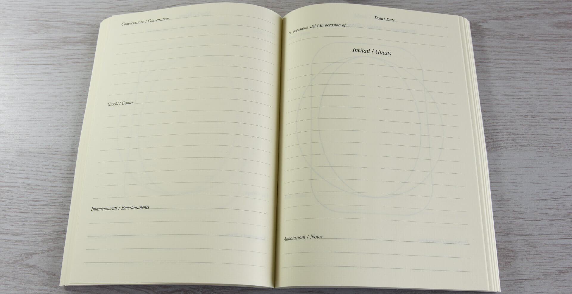 quaderno a tema pranzi e cene