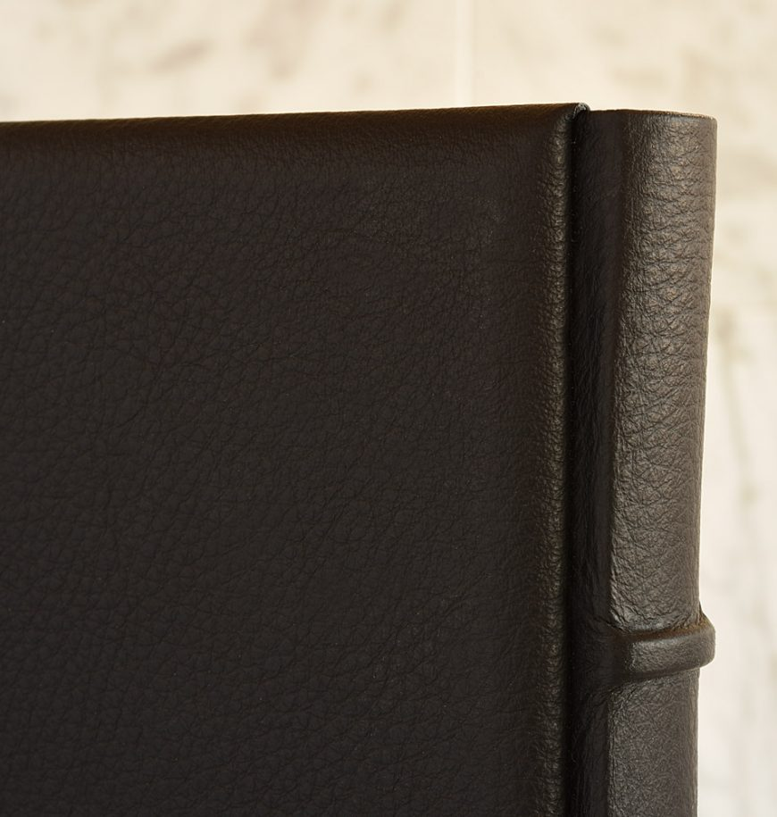 Libro firme in pelle, colore nero