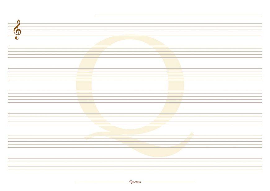 Quotus - Foglio pentagramma Block Notes Musica