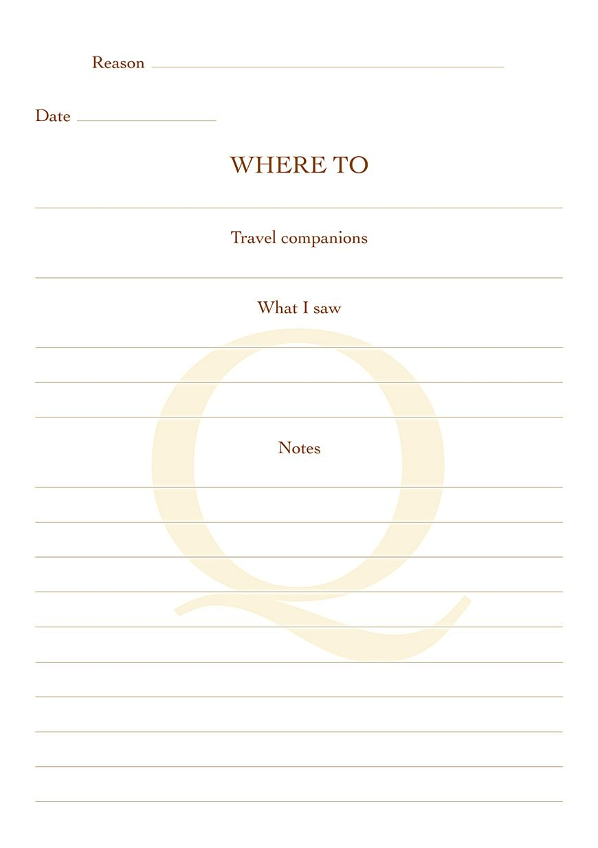 Quotus - Internal page Travel Notepad