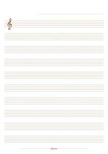 Quotus - Pagina pentagramma Quaderno Musica