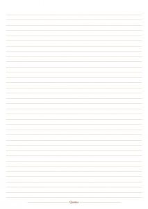 Quotus - Pagina quaderno a righe