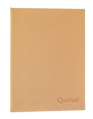 quaderno in pelle per pranzi e cene