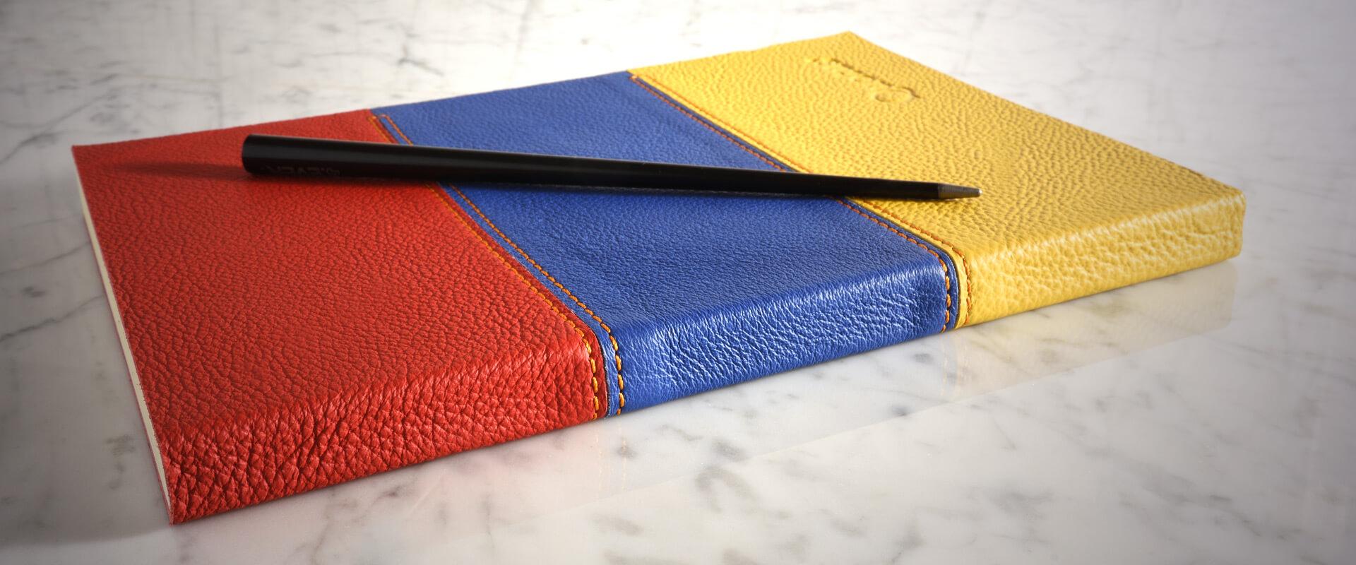 Quaderno copertina in pelle - rilegato a mano - personalizzabile