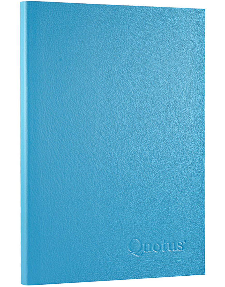 Quotus - Lined Notepad light blue