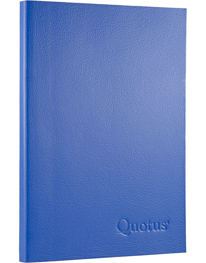 Quotus - Travel Notepad blue