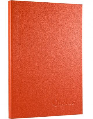 Quotus - Pocketbook for events, colour orange