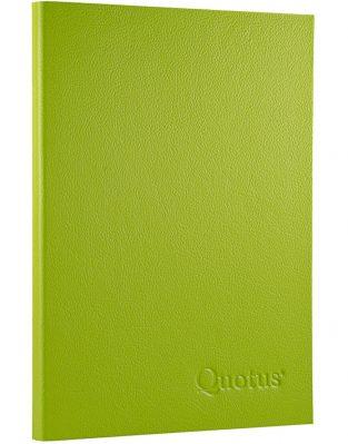 Quotus - Notepad Travel green
