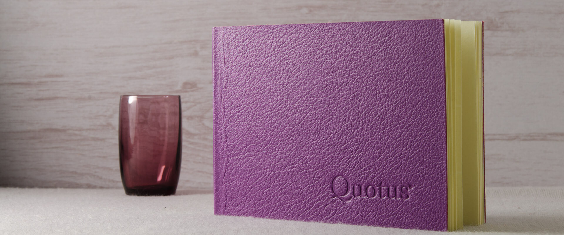 Cartoleria Quotus - Mini Block Notes Pavra viola, a righe