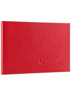 Quotus - Mini Block Notes Pavra rosso a righe