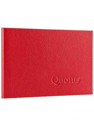 Quotus - Mini Block Notes Pavra rosso a righe