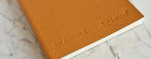 Quotus cartoleria di lusso - Quaderno in pelle personalizzato con nome