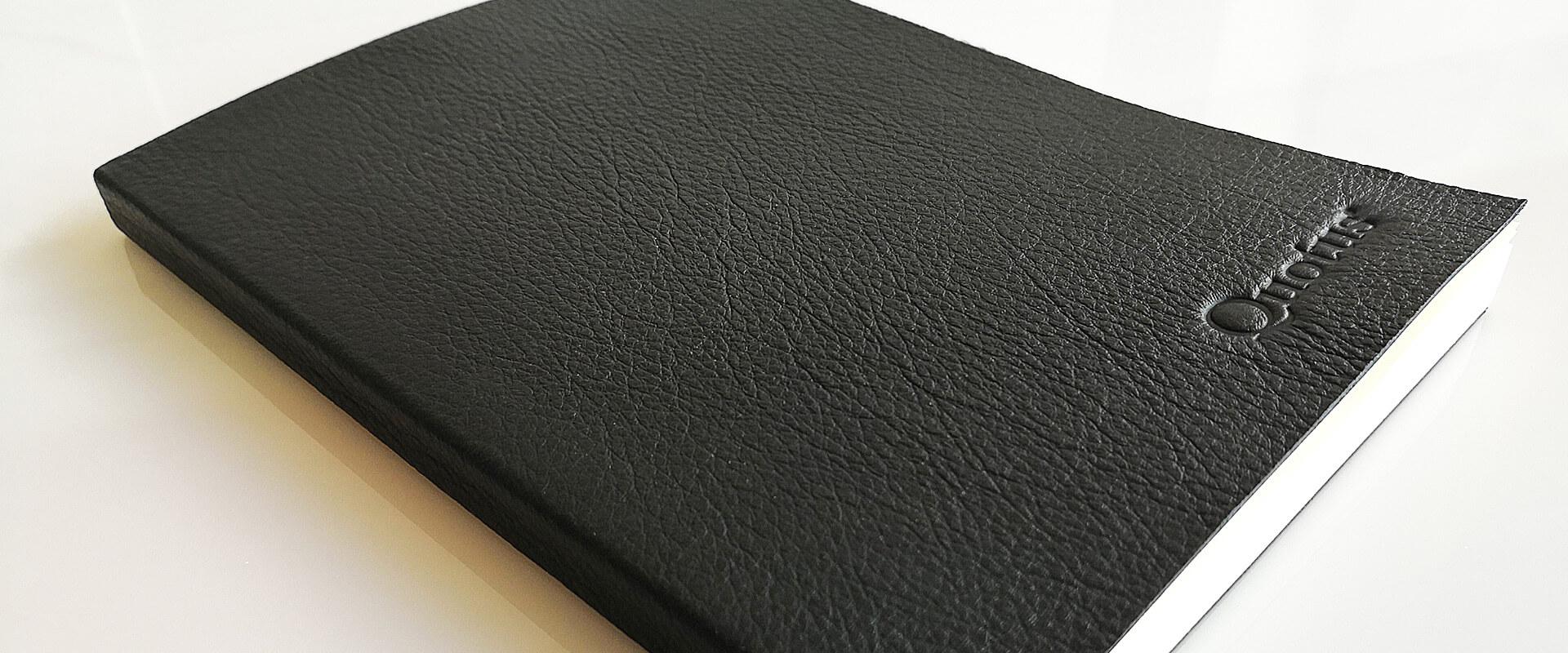 quaderno musicale pentagramma in pelle