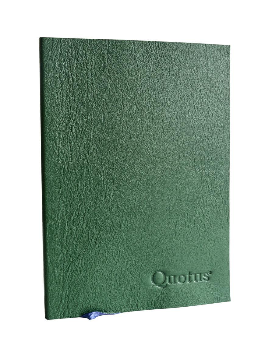 quaderno per giardino in pelle