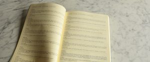 quaderno in pelle con schede giardinaggio