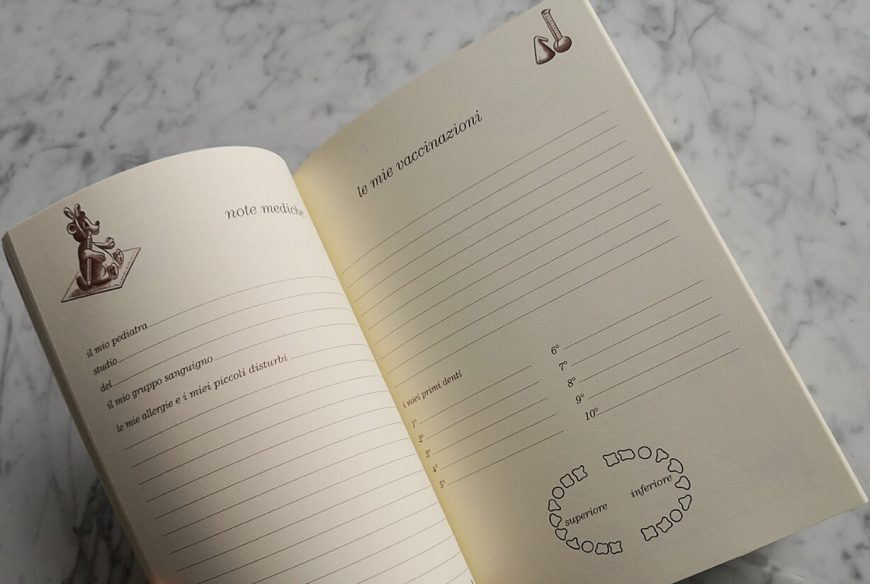 quaderno per segnare le prime volte del neonato