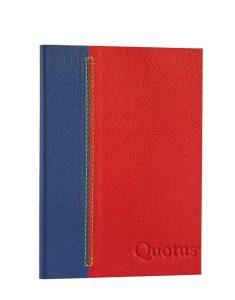 diario personalizzabile rosso blu