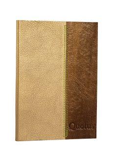 diario tascabile in pelle