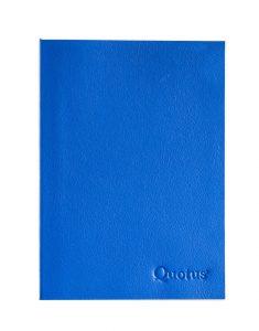 logbook nautico in pelle blu quotus